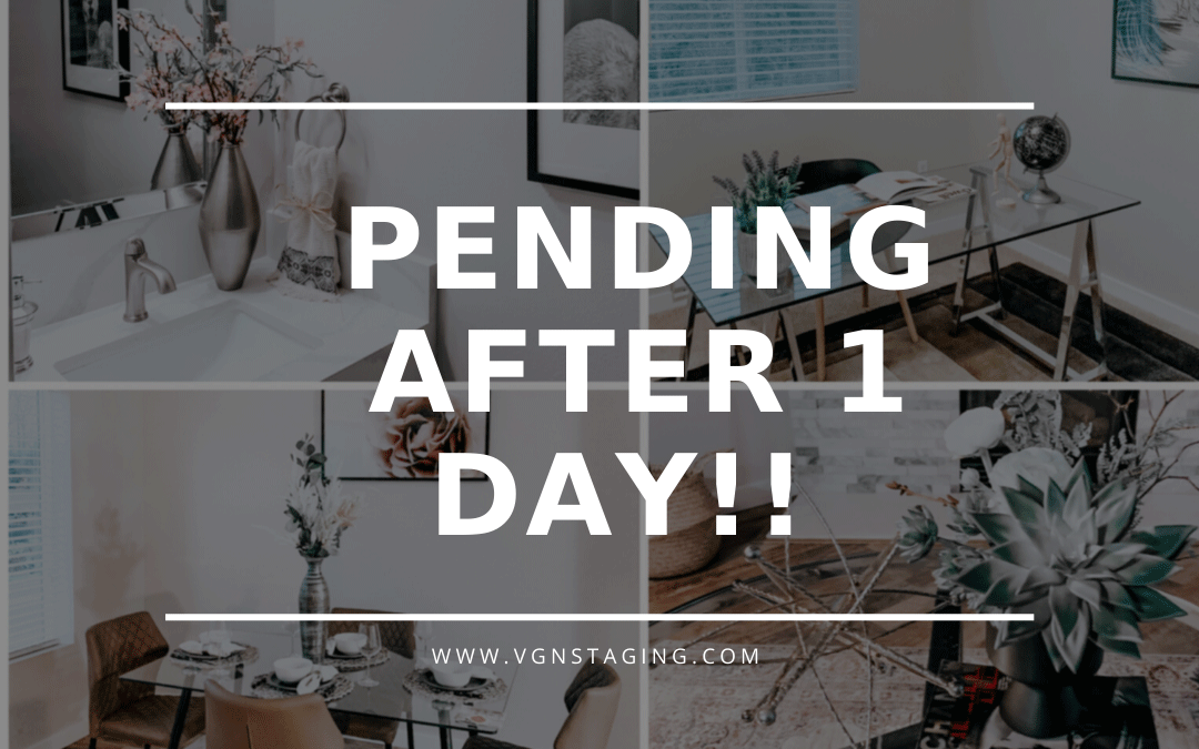 PENDING AFTER 1 DAY!! Home staging does sell!